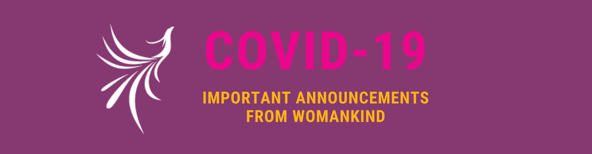COVID-19 Website Header