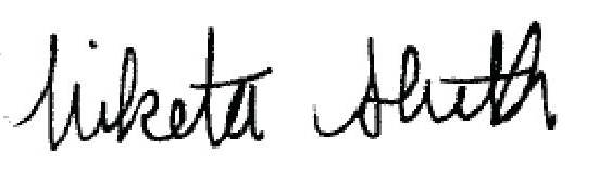 Niketa Shith Signature